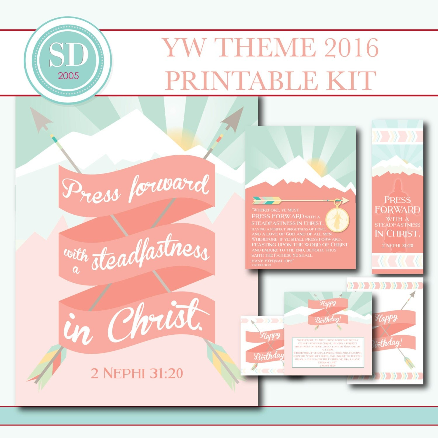 LDS Young Women Theme 2016 Press Forward with a by SugarDoodleYW