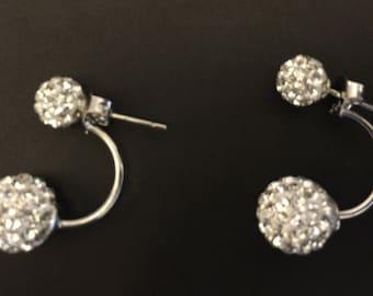 Full of flash sterling silver stud earrings
