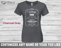 19th Birthday, 19th Birthday t shirt Gift, 19th Birthday, 19th ,19th Birthday Present , 19 birthday gift, vintage 1996 limited edition ,19th