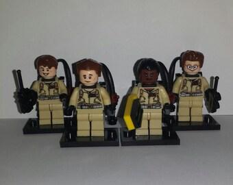 Ghostbusters Set of 4 Minifigures Egon Venkman Ray Winston (LEGO Compatible)