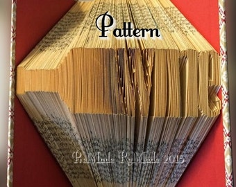 Wine Bottle - Folded Book Art Pattern - Instant Download!