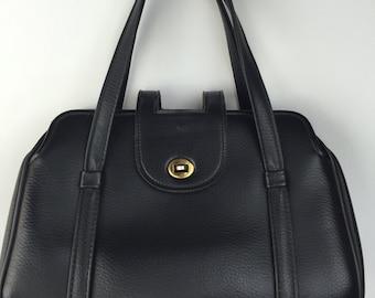 Vintage Leather Handbag 30's 40's 50's