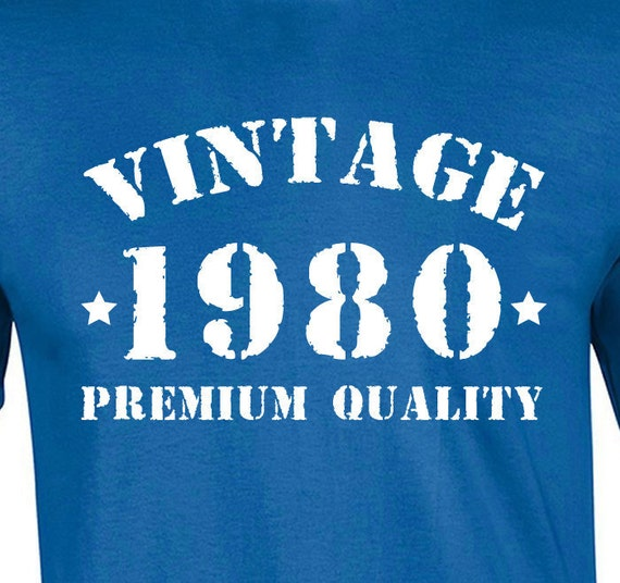 Vintage 1980 35th Birthday Gift For Men And By Coolteesonline