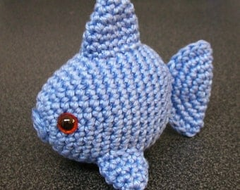 Amigurumi Fish, Crochet Fish, Amigurumi Goldfish, Amigurumi Softie, crochet amigurumi plush, Fish Toy, Nursery Decor