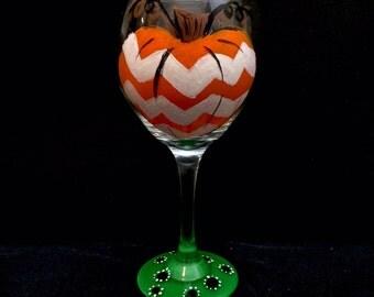 Autumn Chevron Pumpkin- Patio Glass