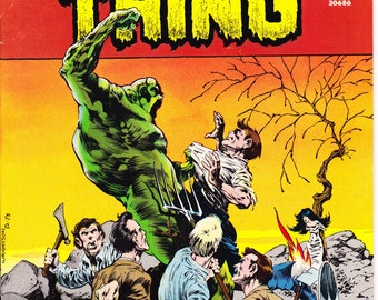 Swamp Thing 5, Horror comic, Pitchfork, Farmer Gifts, Scary book, Halloween, Wrightson art. 1973 DC Comics in NM- (9.2)
