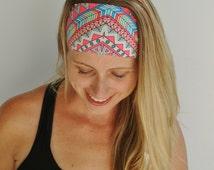 Unique Boho - Wide Headband - Non Slip Headband - Headbands for Women - Sports Headbands - Athletic Headband - Running - Yoga - Happy Hippie