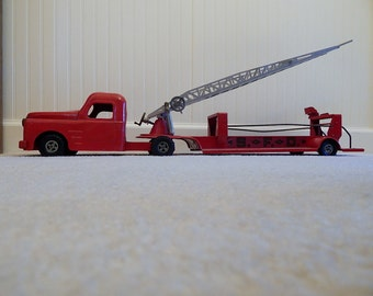 Vintage Structo Hook and Ladder Fire Truck, Metal Fire Truck, Structo Firetruck