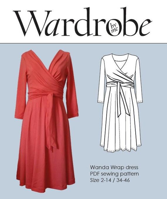 Pdf Sewing Pattern//wrap Dress