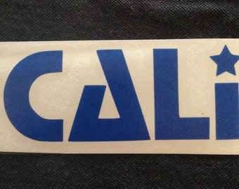 CALI vinyl decal - Available in all sizes/colors!