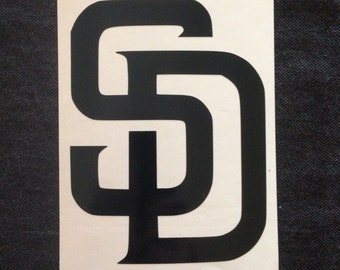 San Diego Padres vinyl decal - Available in all colors/sizes!