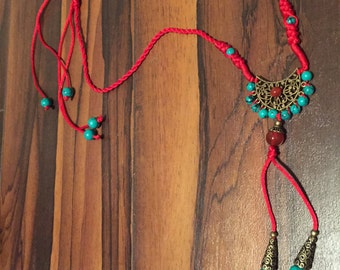 Asian Inspired Tassel Necklace