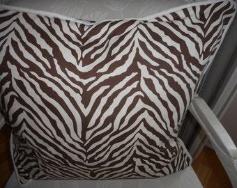 """Zebra stripes , Throw Pillows, Size 20"""" x 20""""Qty-2,  19.99 ea"""