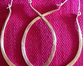 Rustic Copper Earrings, Hammered Copper Earrings, Copper Earrings, Handmade, Hoop Earrings, Large earrings, Boho earrings,chic jewelry,
