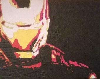 Ironman hand painted pop art canvas