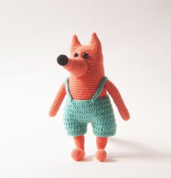 Amigurumi Forest Animals : Crochet Toy Crochet Doll Forest Animal Fox Amigurumi