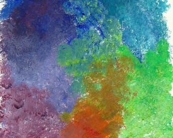Swimming in Color - Art Print