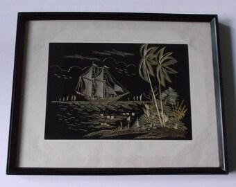 Vintage Rice Straw Art - Framed