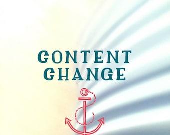 CONTENT CHANGE