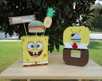 SpongeBob Inspired Birthday Decoration Combo Set