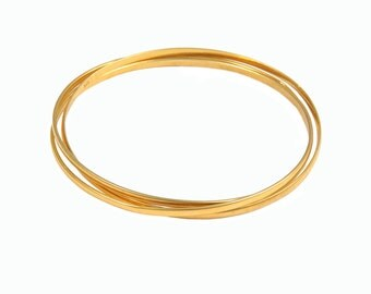 Goldplated Silver Bangle