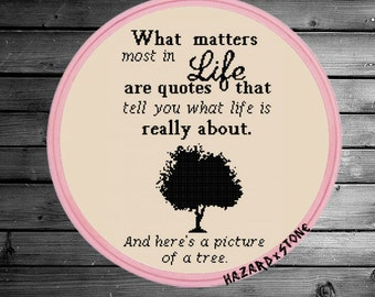 What Matters Most in Life Cross Stitch PDF Pattern Sarcastic Classic