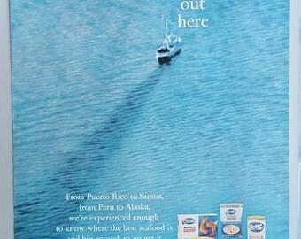 1968 Chicken of the Sea Tuna Print Ad  - Ralston Purina