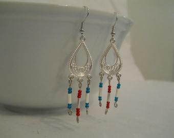 Sliver Teardrop Dangle Earrings