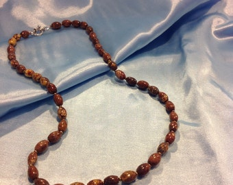SOLD OUT.  Leopardskin Jasper Necklace