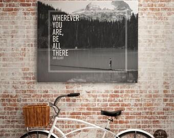 Lake Photography, Inspirational Black and White Typography Print, Black White Home Decor, Inspirational Printable, Inspirational Quote Print
