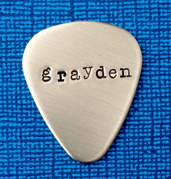 metal guitar pick personalized pick pick with name. Black Bedroom Furniture Sets. Home Design Ideas