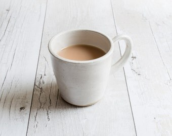 Chalky White Stoneware Mugs - Ready to Ship