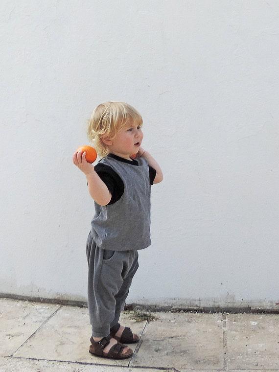 Toddler Harem Pants - Boys And Girls Harem Pants - Kids Harem Pants - Gray Harem Pants - Toddler Hipster Fashion - Trendy Pants - ON SALE