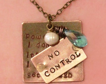 "One Direction ""No Control"" Necklace"