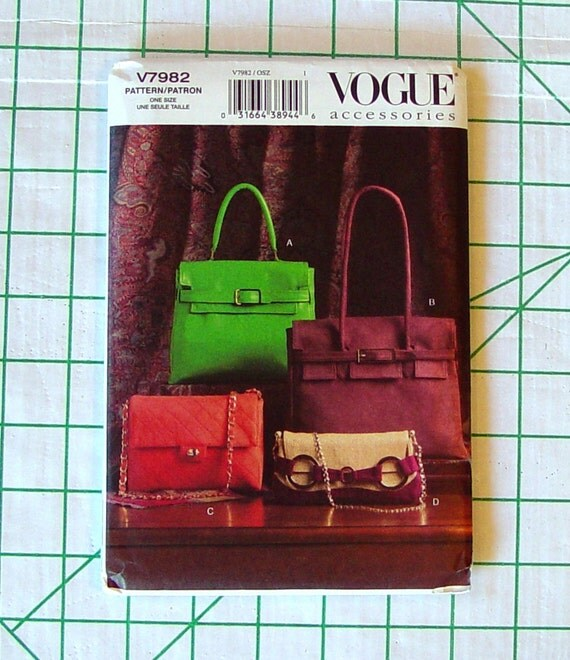 hermas bags - Vogue 7982 Rare Sewing Pattern v7982 Hermes by ThePatternHoarder