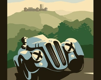 Car Bmw Best Automobile in the World Germany German Vintage Poster Repro FREE SHIPPING in USA