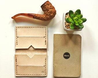 Handmade Leather Wallet - Natural