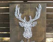 popular items for string art deer on etsy. Black Bedroom Furniture Sets. Home Design Ideas