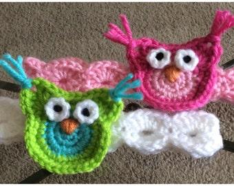 Crochet  Owl Headband