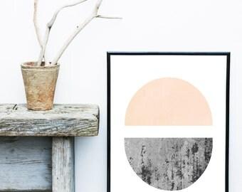 Minimalist Poster, Printable Art, Geometric Art, Scandinavian Art, Textured Art, Abstract Wall Art, Modern Art Print