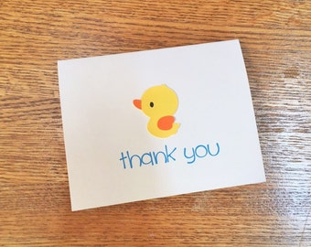 Rubber Duck Thank You Cards - set of 10 w/ envelopes