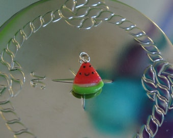 Kawaii Watermelon Polymer Clay Charm