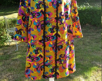 Amazing  Susan Small Dress and Coat Set. Neon Colours . . . Wow So 60s!