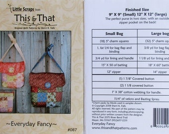 "This & That Quilt Pattern ~ ""Everyday Fancy"" #087"