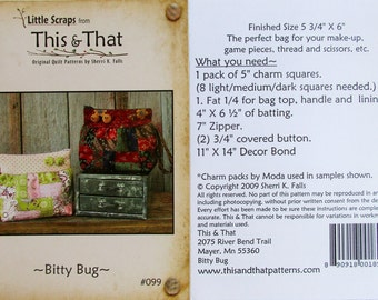 """This & That Quilt Pattern ~ """"Bitty Bug"""" #099"""