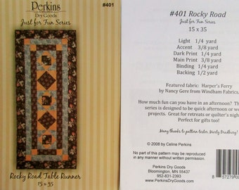 "Perkins Dry Goods - Just For Fun! ~ ""Rocky Road Table Runner""  #401"