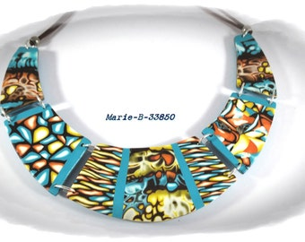 summer necklace to the vibrant colours