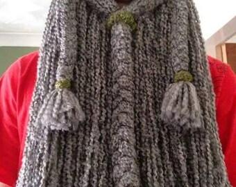 Handmade Crochet BEARDED Viking Hat with detachable beard!