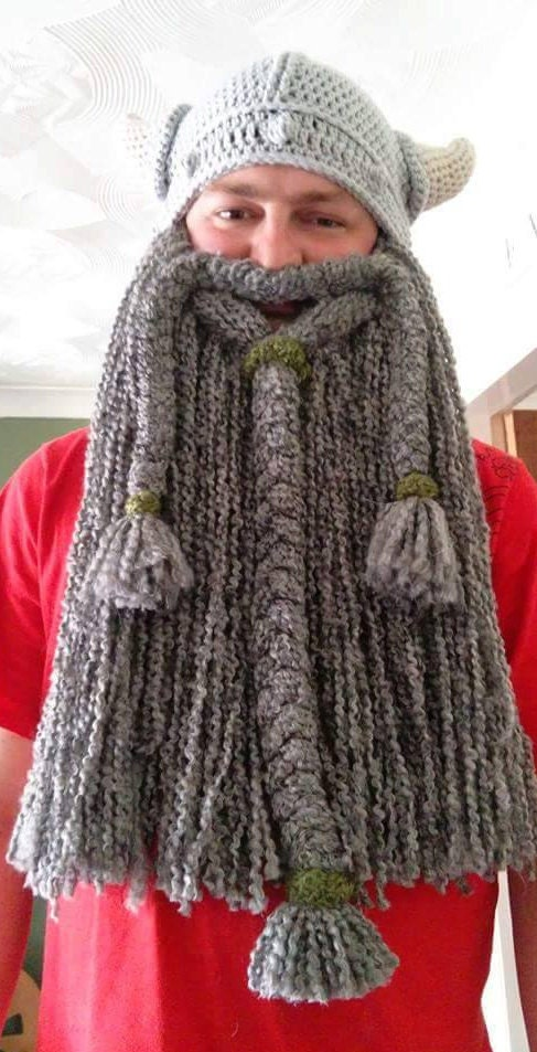 Crochet Viking Beard Hat Pattern