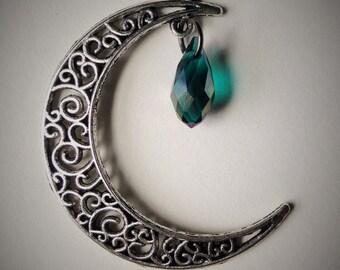 Moon and Teardrop Pendant